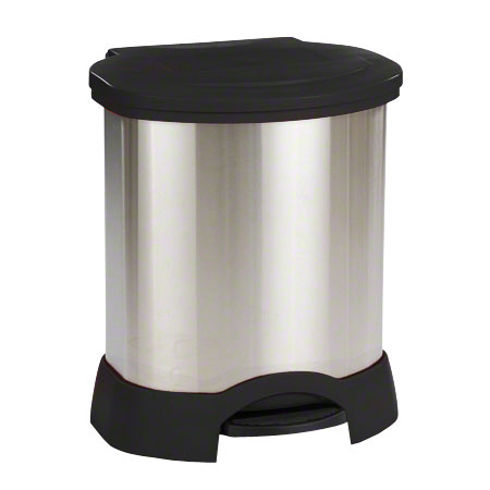 Rubbermaid® Step-On Stainless Steel Container -23 Gal., BK