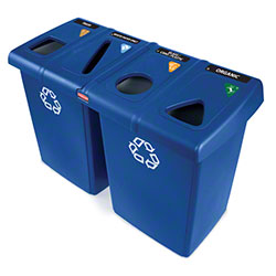 Rubbermaid® Glutton® Recycling Station - Blue