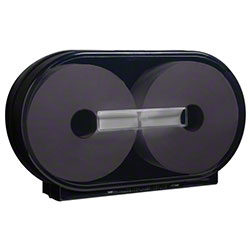 Tork® Jumbo Roll Twin Bath Tissue Dispenser - Black
