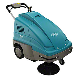 "Tennant S7 Walk Behind Battery Sweeper - 28"", 140 AH"