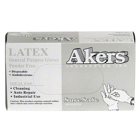 Akers Disposable Powder Free Latex Glove - Small (6-6 1/2)