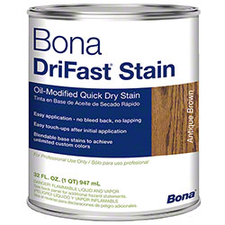 Bona® DriFast® Stain - Qt., Antique Brown