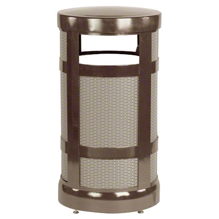 Rubbermaid® Radius Top Trash Receptacle - 17 Gal., Bronze