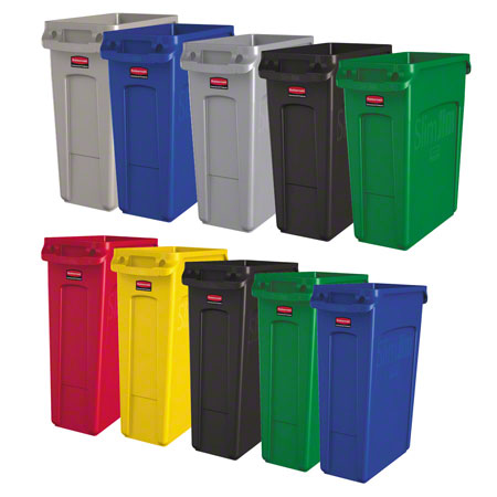 Rubbermaid® Slim Jim® Waste Container - 23 Gal., Black