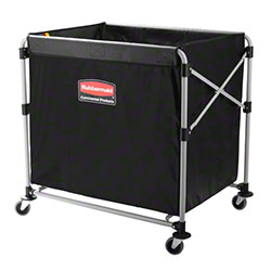 Rubbermaid® Executive Black Collapsible X-Cart - 8 Bushel