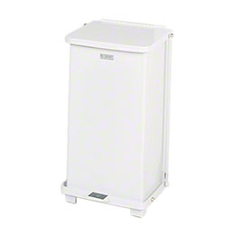 Rubbermaid® Defenders® Step Can - 12 Gal., White