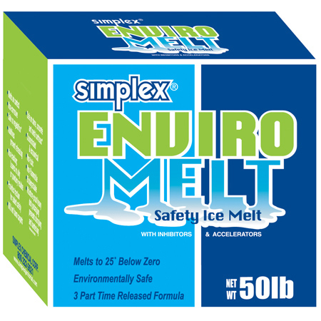 Simplex® Enviro Melt Premium Ice & Snow Melter - 50# Box