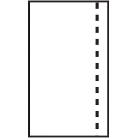 "Belle-Pak Plain Packing List Envelope - 12"" x 9.5"" OD"