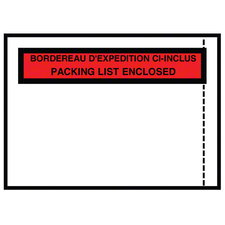 "Belle-Pak Printed Packing List Envelope - 4.5"" x 5.5"" OD"