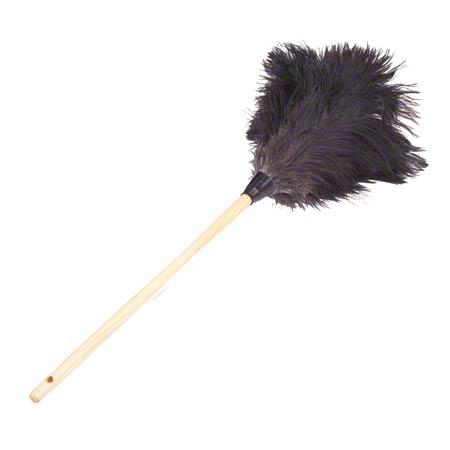 """Lambskin Feather Duster Premium Grey Ostrich - 20"""" Overall"""