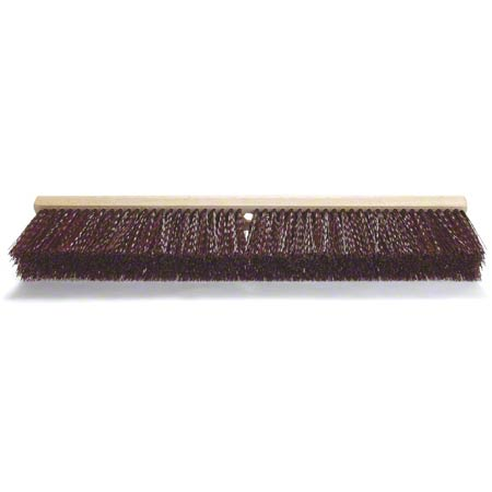 Malish Maroon Crimped Poly Heavy-Duty Floor Sweep - 24""