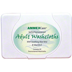 Ammex AmmexCare Adult Washcloth - 50 ct.