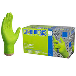 Ammex Gloveworks® HD Green Nitrile Glove - Large