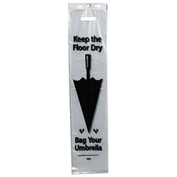 "Wet Umbrella Bag w/Die Cut Handle - 7"" x 32"""