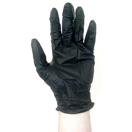 Strong Classic General Purpose Black Nitrile Glove - Large
