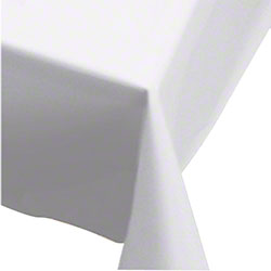 """Hoffmaster® Plastic Tablecover - 54"""" x 108"""", White"""