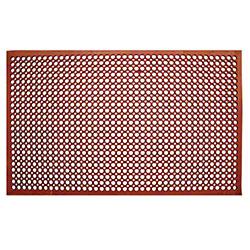 "Update 3/4"" Grease Resistant Floor Mat - Red"