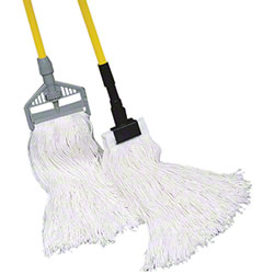 Golden Star® 8 Ply Sno-White Rayon Wet Mop-Standard 24 oz.