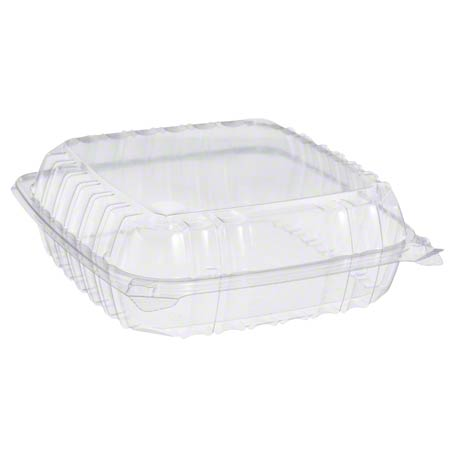 Dart® ClearSeal® Clear Hinged Lid Container -LG, 1 Cmpt