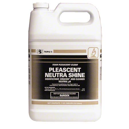 SSS® Pleascent Neutra-Shine Disinfectant Cleaner - Gal.