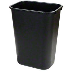 Carlisle 41 1/4 Qt. Office Wastebasket - Black