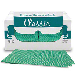 "MDI Pro-Series® Classic® Foodservice Wipe - 11"" x 21.5"", Green"