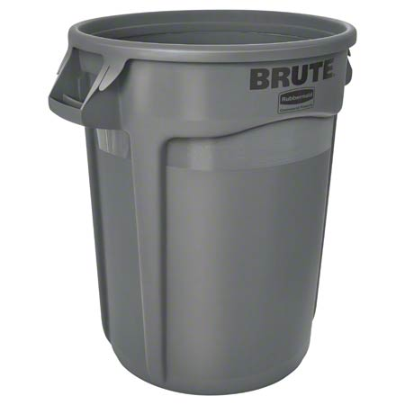 Rubbermaid® BRUTE® Round Container - 32 Gal., Gray