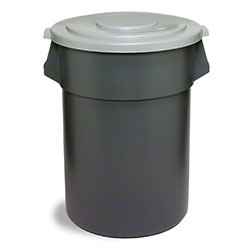 SSS® Huskee Receptacle - 55 Gal., Gray
