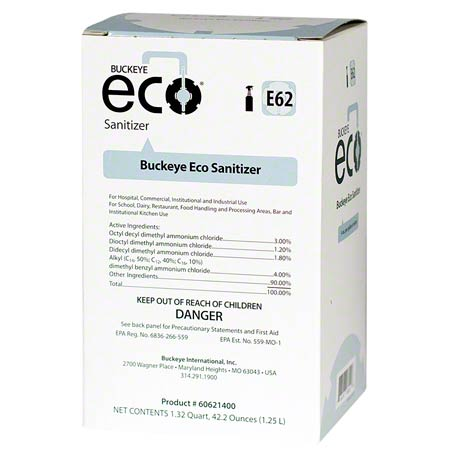 E62 Eco 1.25L Sanitizer Bag  4/cs