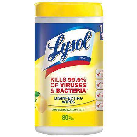 Lysol Sanitizing Wipes, Citrus Scent 6/80CT