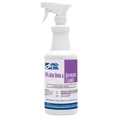 PRO-LINK® 0% Acid Bowl & Bathroom Cleaner - Qt.