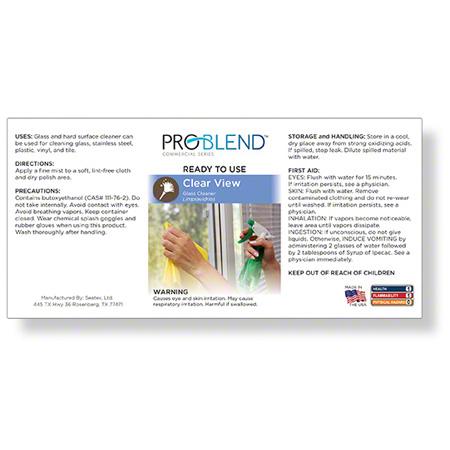 ProBlend™ Clear View RTU Label Sheet