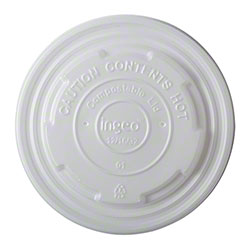 PrimeWare® 12-32 oz. CPLA Lid For Compostable Container