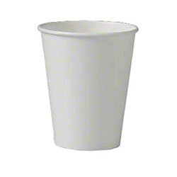 Solo® White Single Sided Poly Paper Hot Cup - 8 oz.