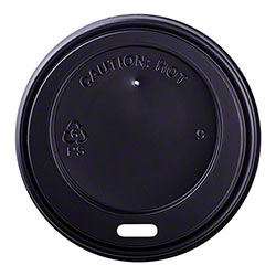 Karat® Black Sipper Dome Lid Fits 8 oz. Hot Cup