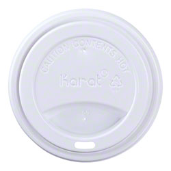 Karat® Sipper Dome Lid For 10 to 24 oz. Paper Hot Cups