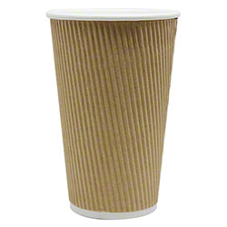 Karat® Kraft Ripple Paper Hot Cup - 16 oz.