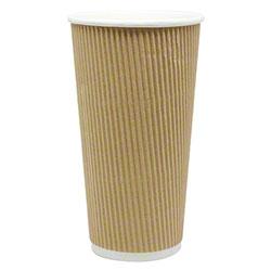 Karat® Kraft Ripple Paper Hot Cup - 20 oz.