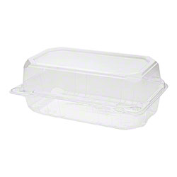 """Karat® PET Hinged Container - 9"""" x 5"""", Clear"""