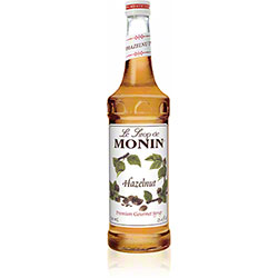 Monin® Hazelnut Flavored Syrup - 750 mL