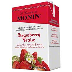Monin® Strawberry Fruit Smoothie Mix - 46 oz.