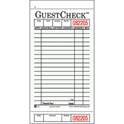 NCCO GUESTCHECK™ Cardboard - 1 Part, Green, 18 Lines