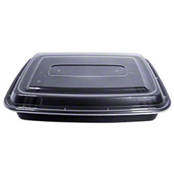 MicroNow® Black Rectangular Combo w/Lid - 58 oz.