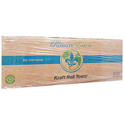 "Royalty Hardwound Roll Towel - 7.87"" x 800', Kraft"