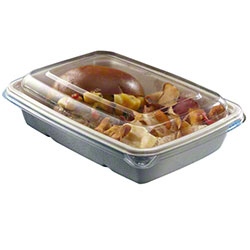 "Sabert® Clear PCR PET Lid For 6""x9"" Rectangular Container"