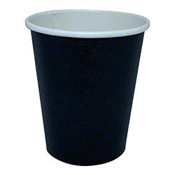 Single Wall Black Hot Cups - 8 oz.