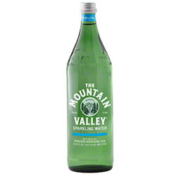 Mountain Valley Sparkling Water Glass Bottle - 1 L