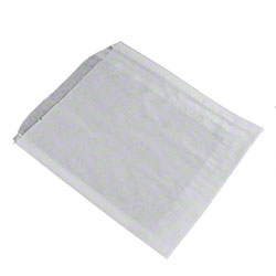 "#8 White Grease Resistant Pastry Bags - 5"" x 4.5"""