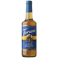 Torani® Sugar Free Hazelnut Syrup - 750 mL