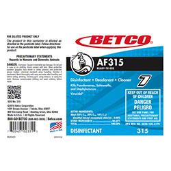 Betco® AF315 Disinfectant Label Only